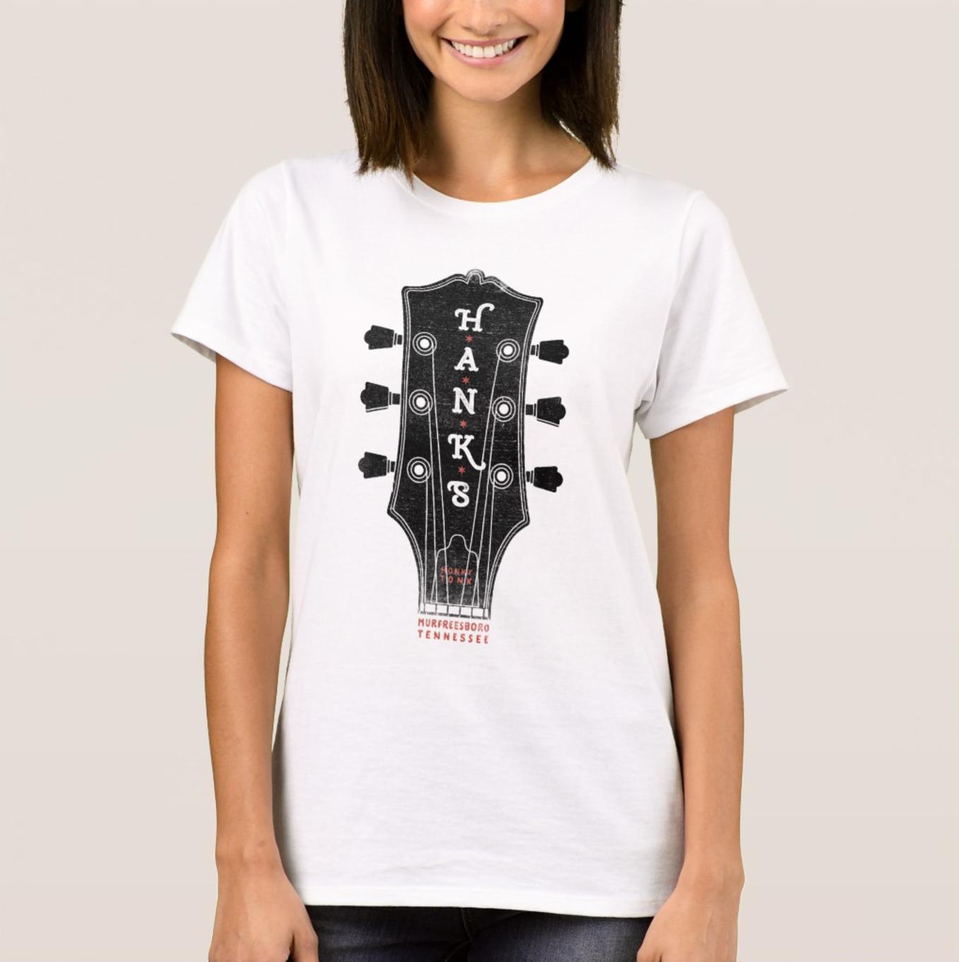 Women's Hank*s Guitar Head Tee | $24.00