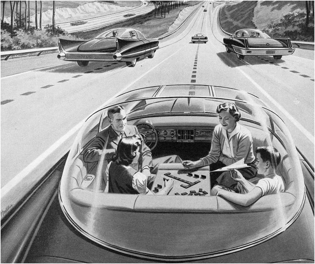 The self-driving car as imagined in the 1950's