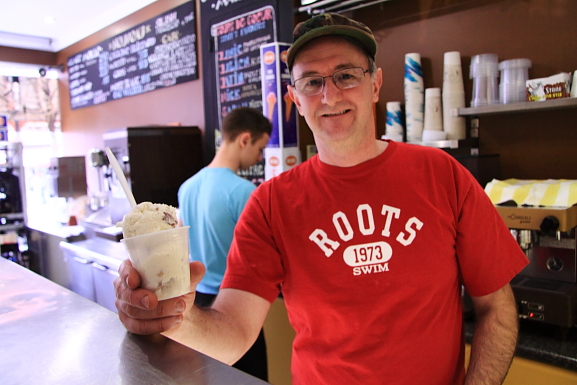 Montreal's Best Ice Cream being served by its founder, Richard Bernett