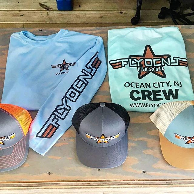 Don't forget to grab some FlyOCNJ gear before summer ends! . . Already went home? No worries, we deliver! . .  Email info@flyocnj.com for more info