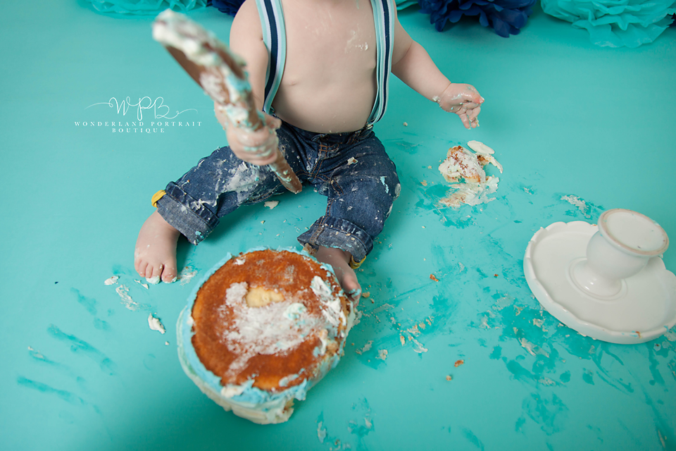 Holland PA Cake Smash first birthday portraits