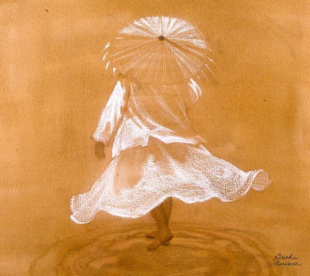 """Sea Takes Us, Sea Brings Us Back"" (2003) by Brookie Maxwell. From series ""Fear No Evil"" . . #brookieworks #exhibition #brookiemaxwell #artforhealing #artistsoninstagram  #carandache #crayon #chinamarker #2001"