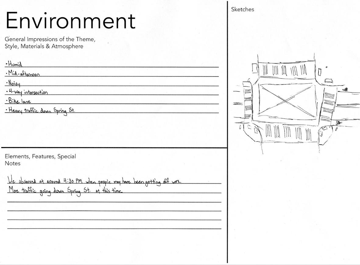 Environment AEIOU worksheet