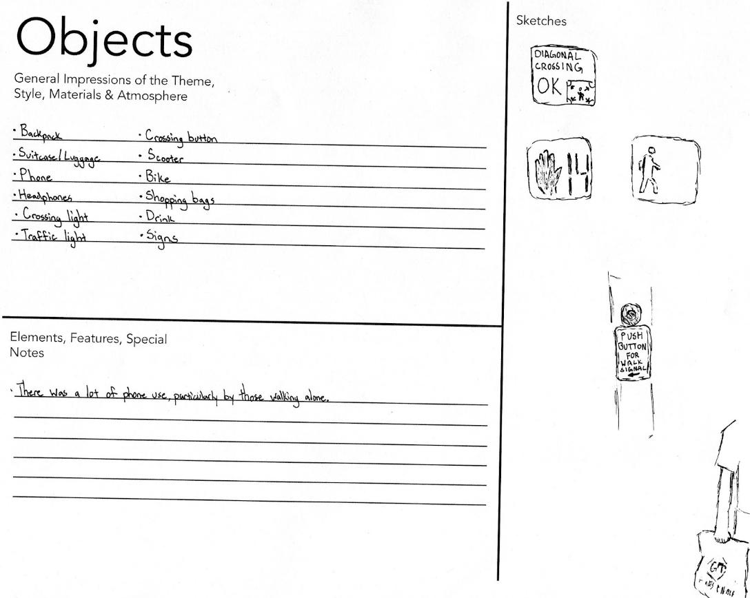 Objects AEIOU worksheet