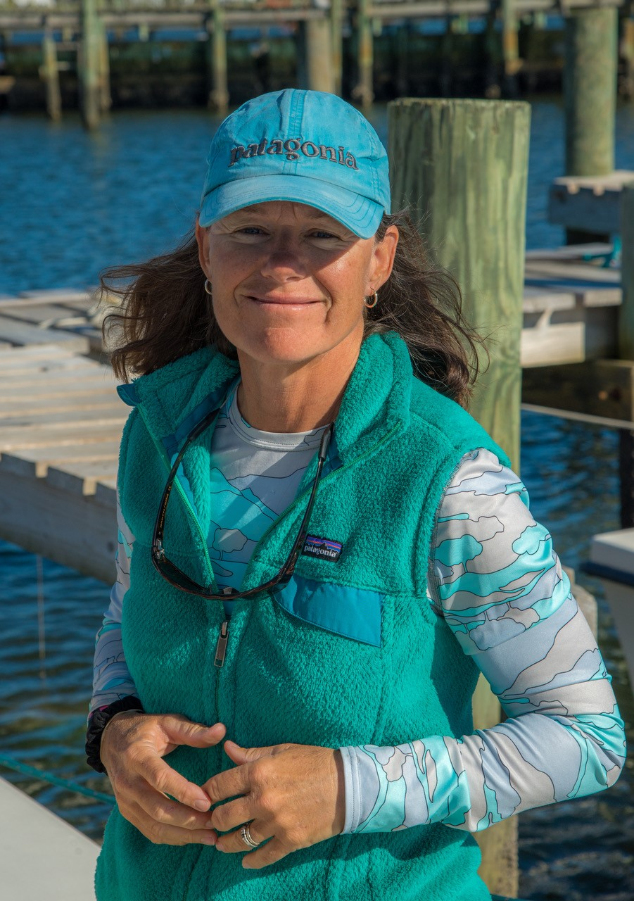 Captain Sarah Gardner - Home Waters: I'm a life-long angler and started my fly fishing career about 30 years ago in the Chesapeake Bay watershed, but coastal North Carolina is my home now.Boat: 23' Jones Brothers Cape Fisherman,