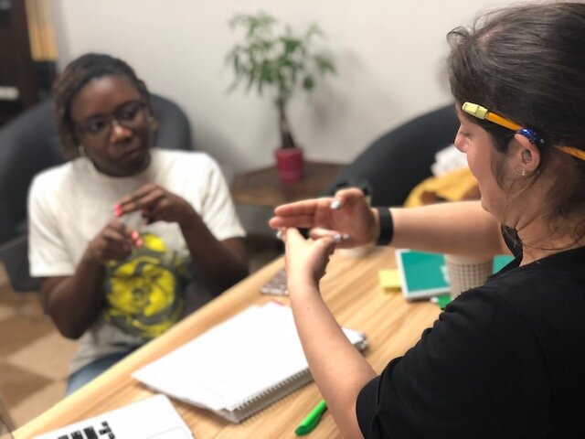 Mentorship Program - We offer a student mentoring program for those who are in college or high school who are interested in working with the Deaf Community.Click here for more information