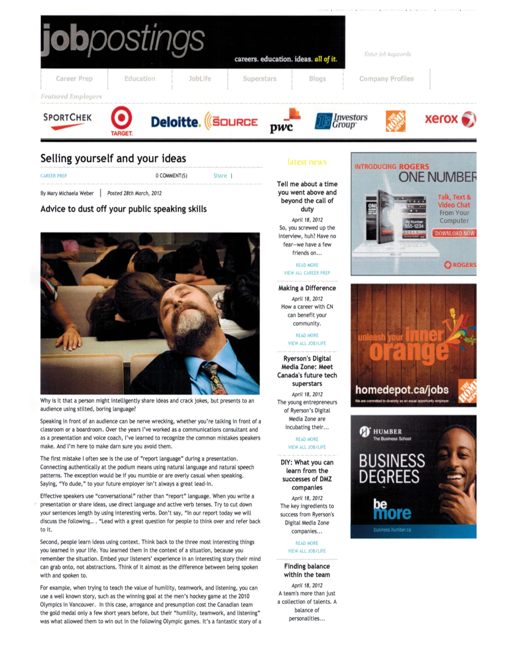 Selling Yourself and Your Ideas - Volume 14, Issue 6, March 2012The Me Brand -Page 16