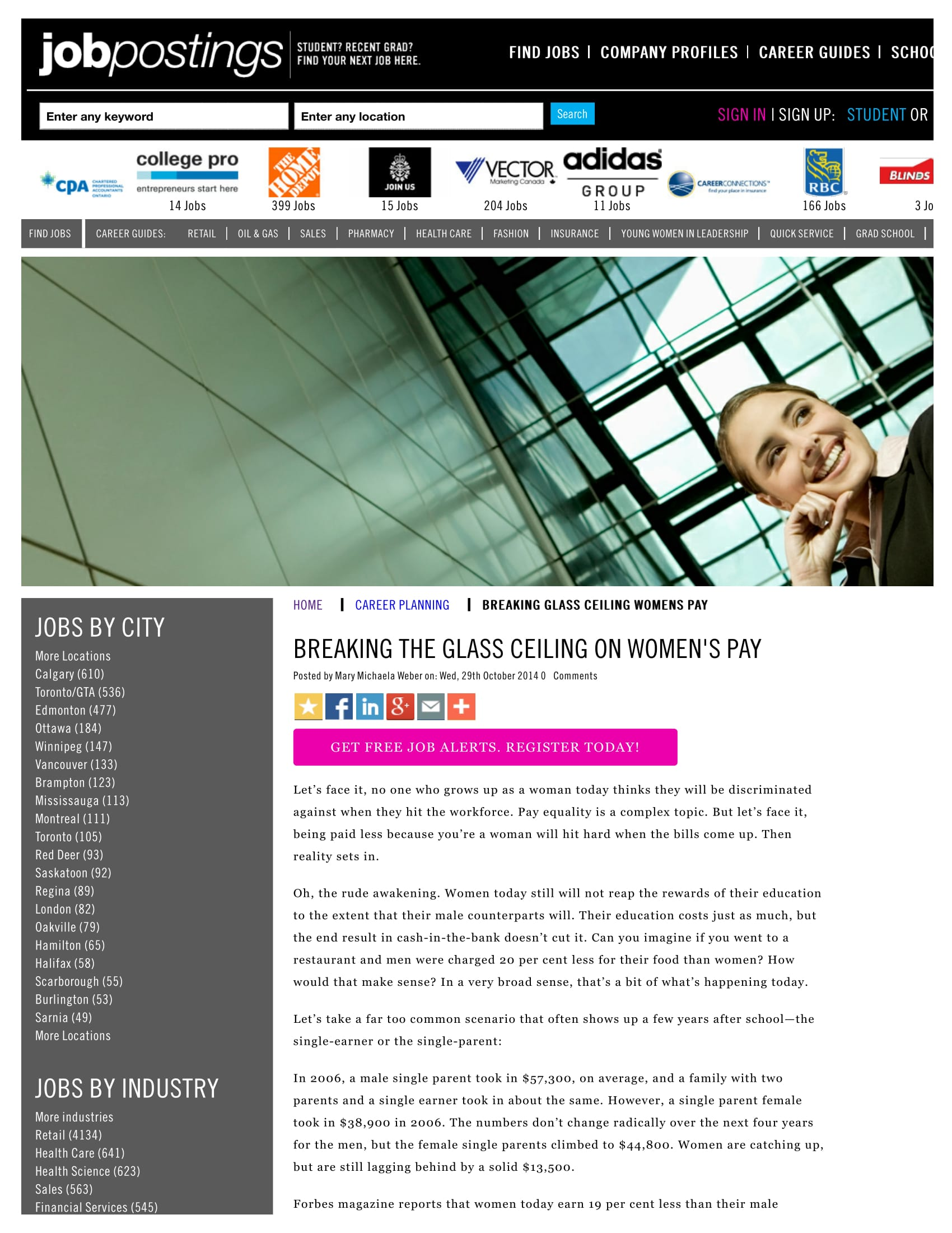 'The price of Nice' Breaking theGlass Ceiling on Women's Pay - page 17, November 2012