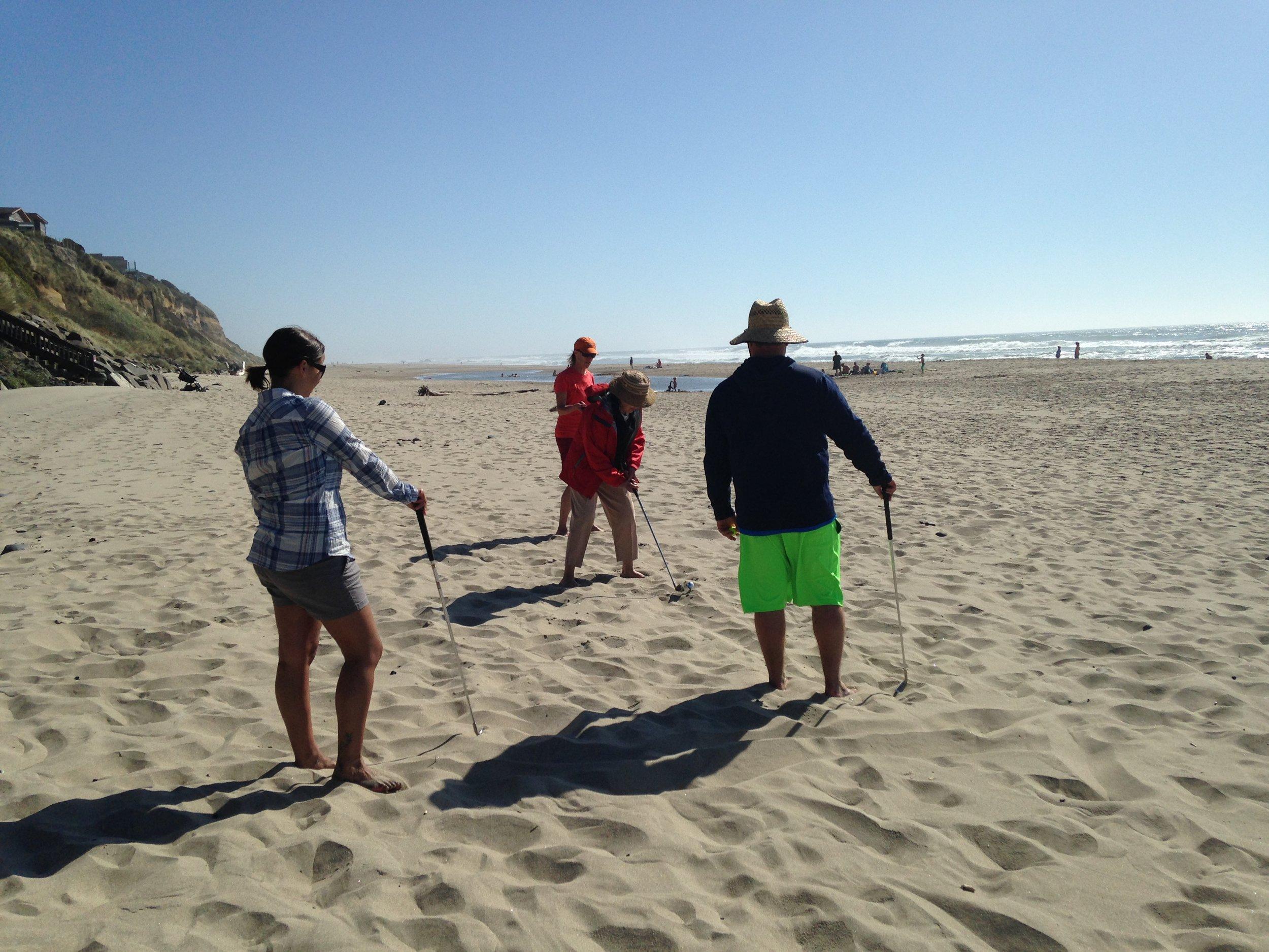 Beach golf - always fun for everyone.