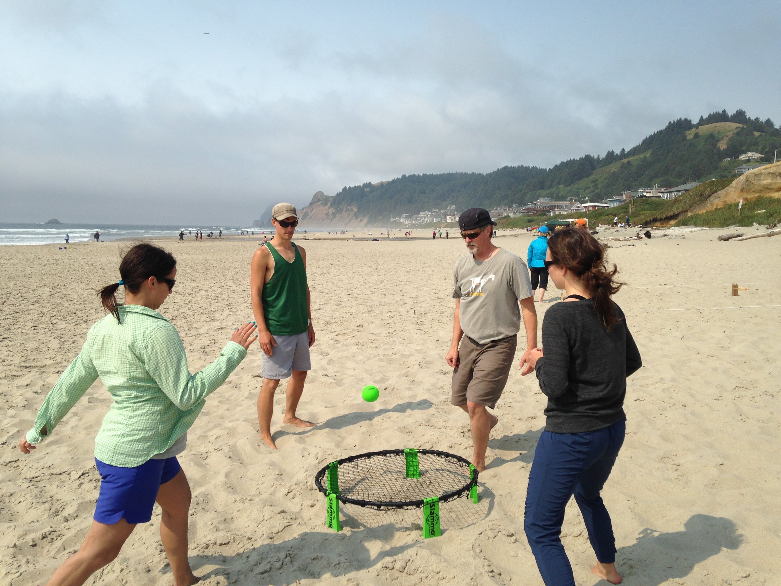 Our new favorite game, Slammo. It's active and dynamic. You'd be surprised how sore you can get from this game :)