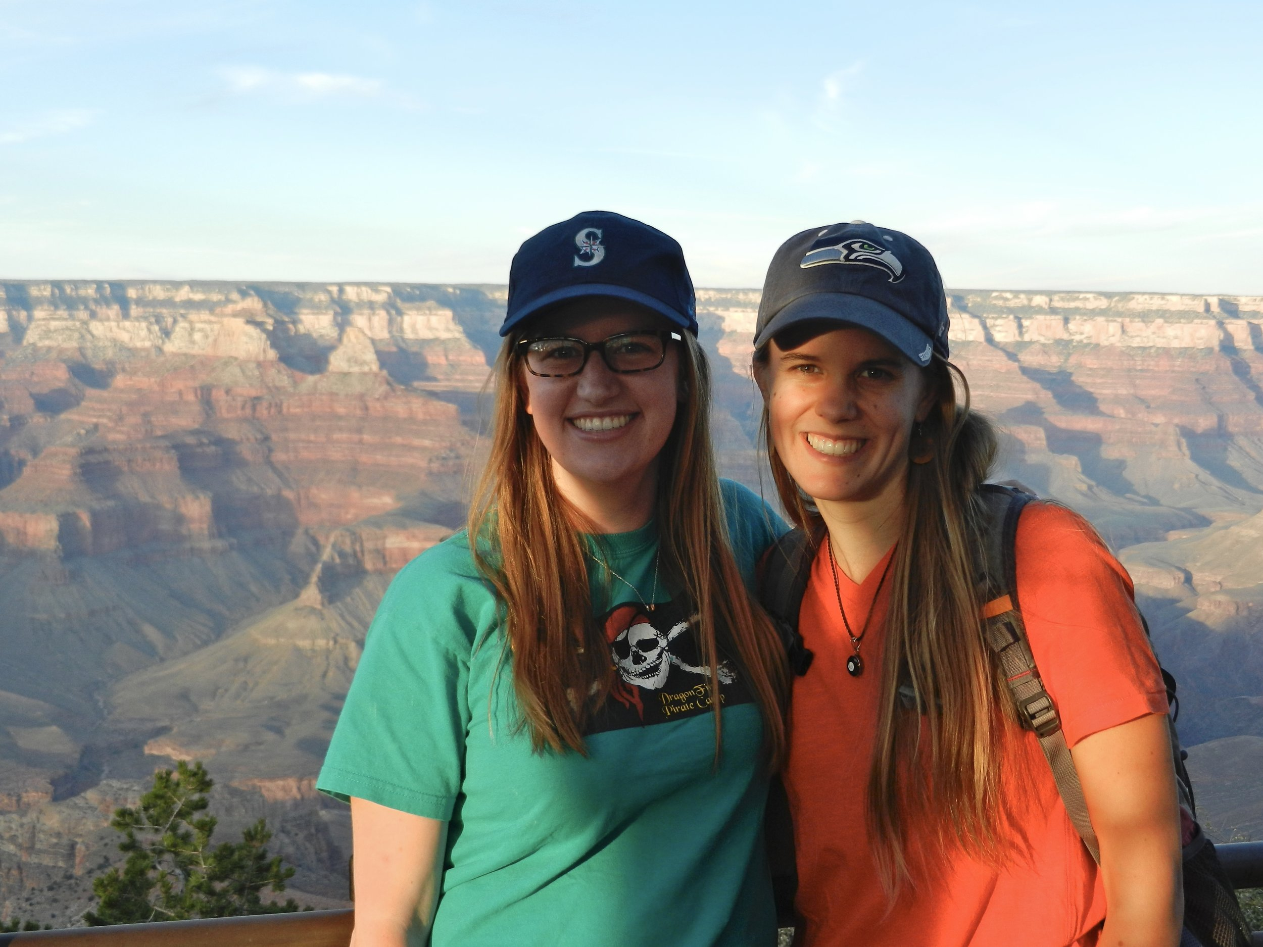 Molly and I that first night at the Grand Canyon.