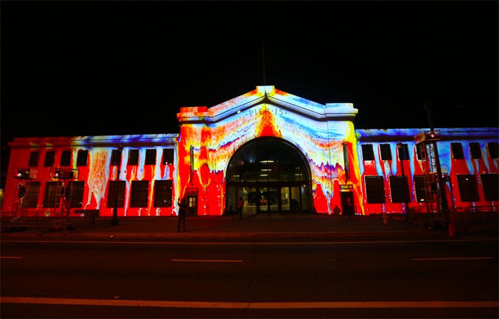 Wax melt facade projection