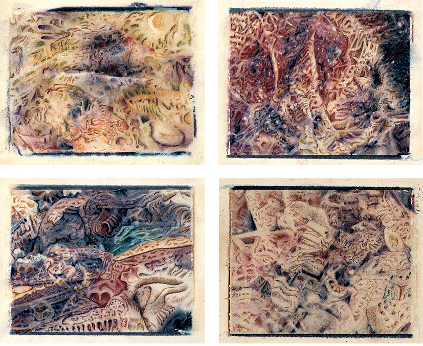 "Untitled - poloroid transfer manipulations - 4""x3.5"" - 1991"