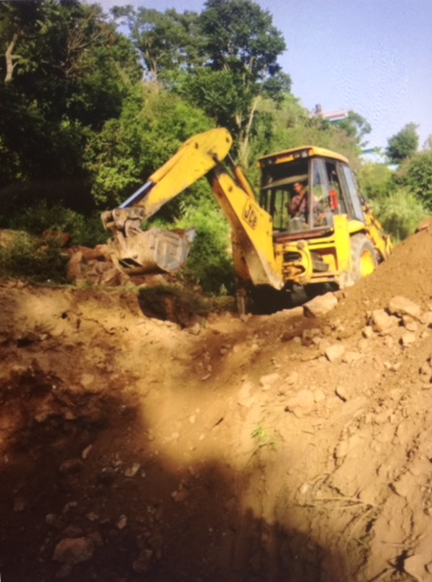 Digging hole for water tank