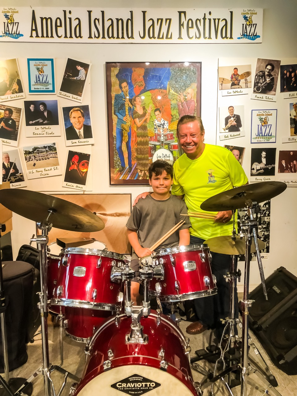 Ethan Magnet with Les at the Drum Studio