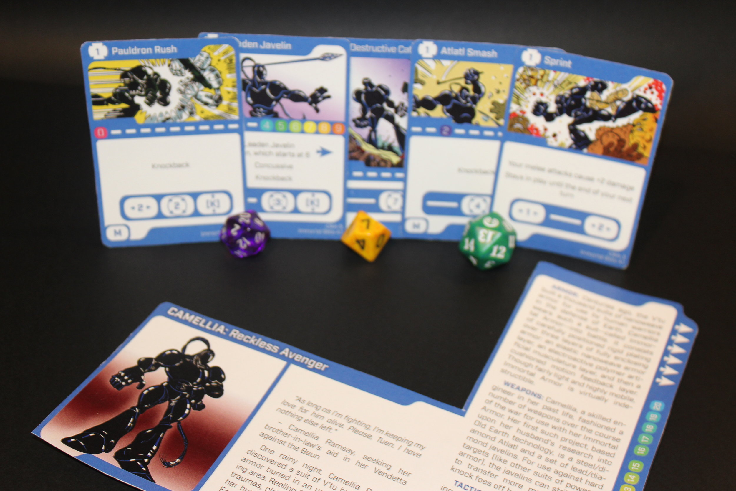 Cards from fourth CLASH beta set with color images. Photograph: Cathy Carnes/Duzax Studios