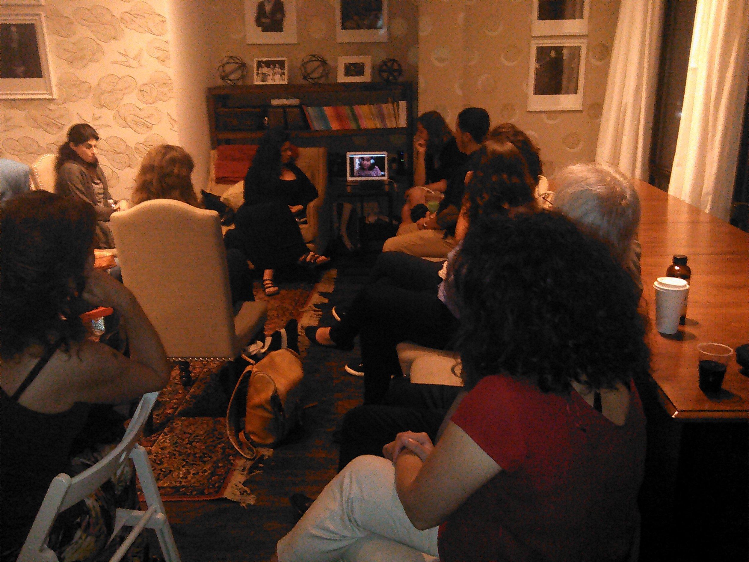 Palestinian filmmaker Wafa Jamil on Skype