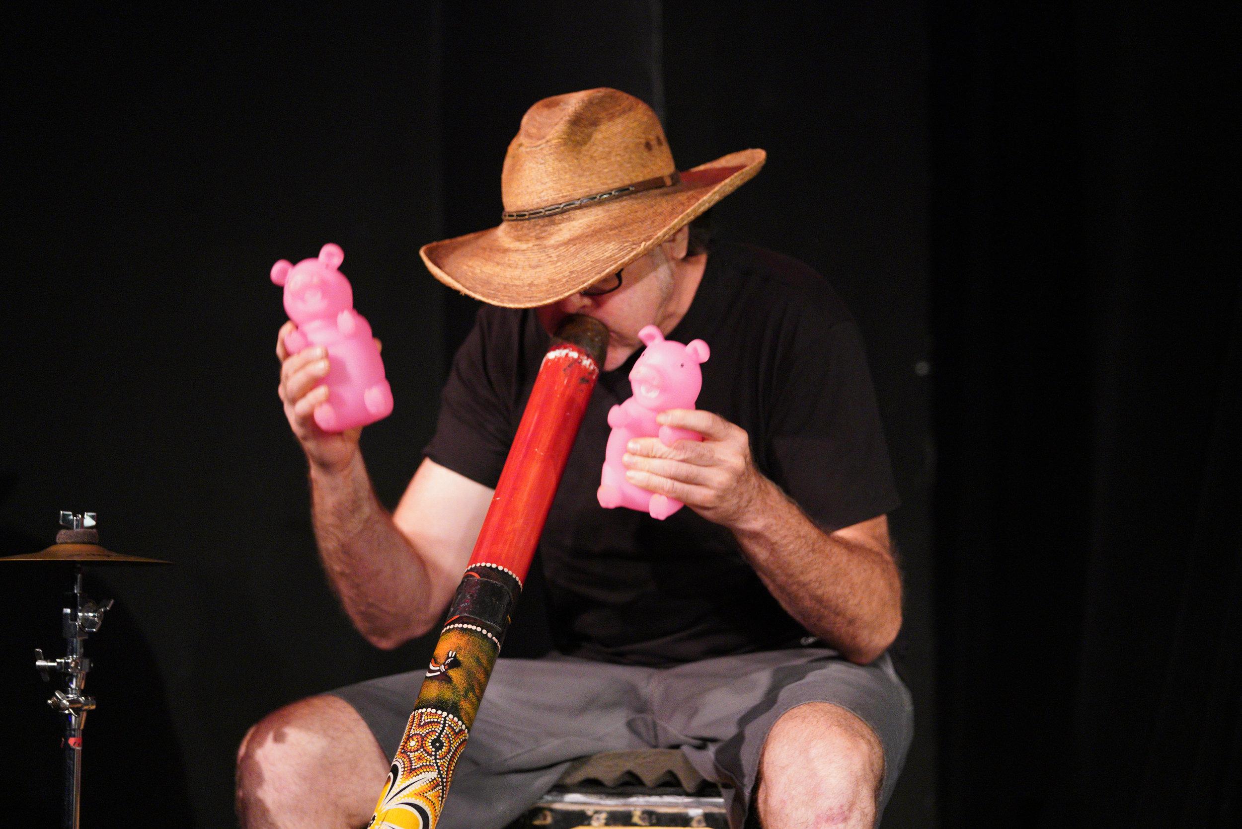 """Multi instrumentalist Marc Mueller, aka """"SteetMule."""" Photo by Steven Pisano"""