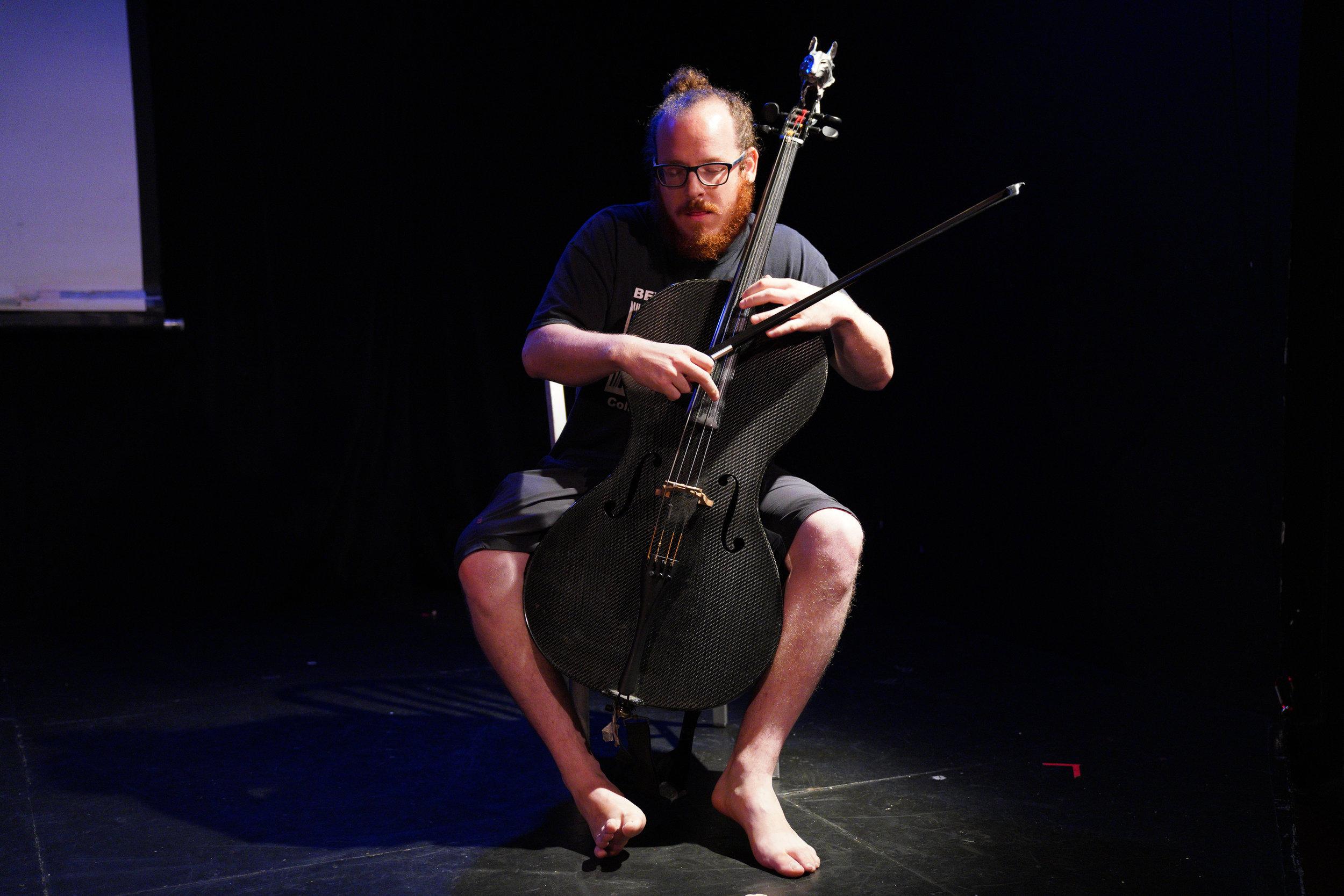 Cellist Jacob Cohen.  Photo by Steven Pisano