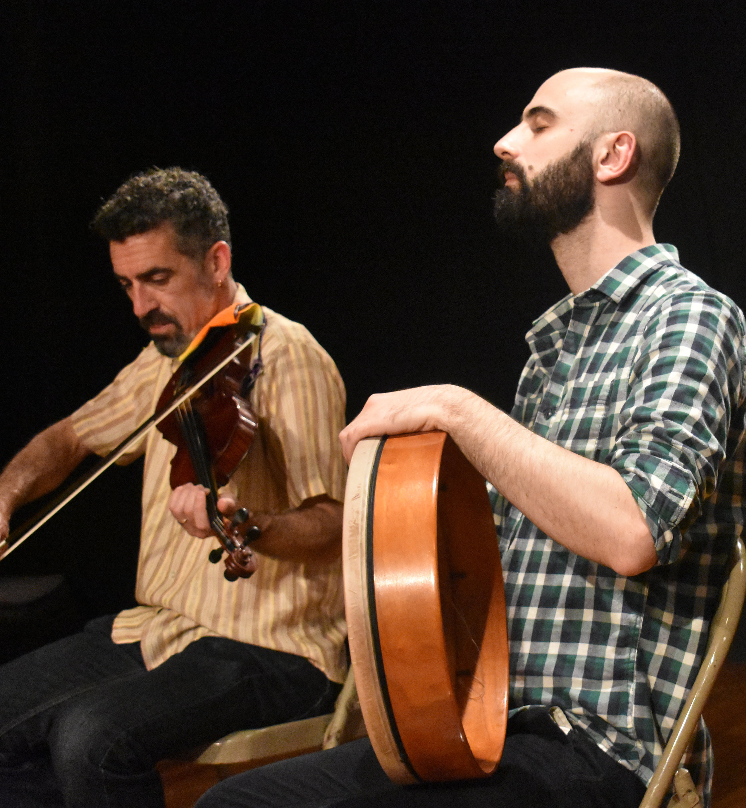 Members of the al-Andalus music group playing Arab-Jewish music. Photo by Mollie Block