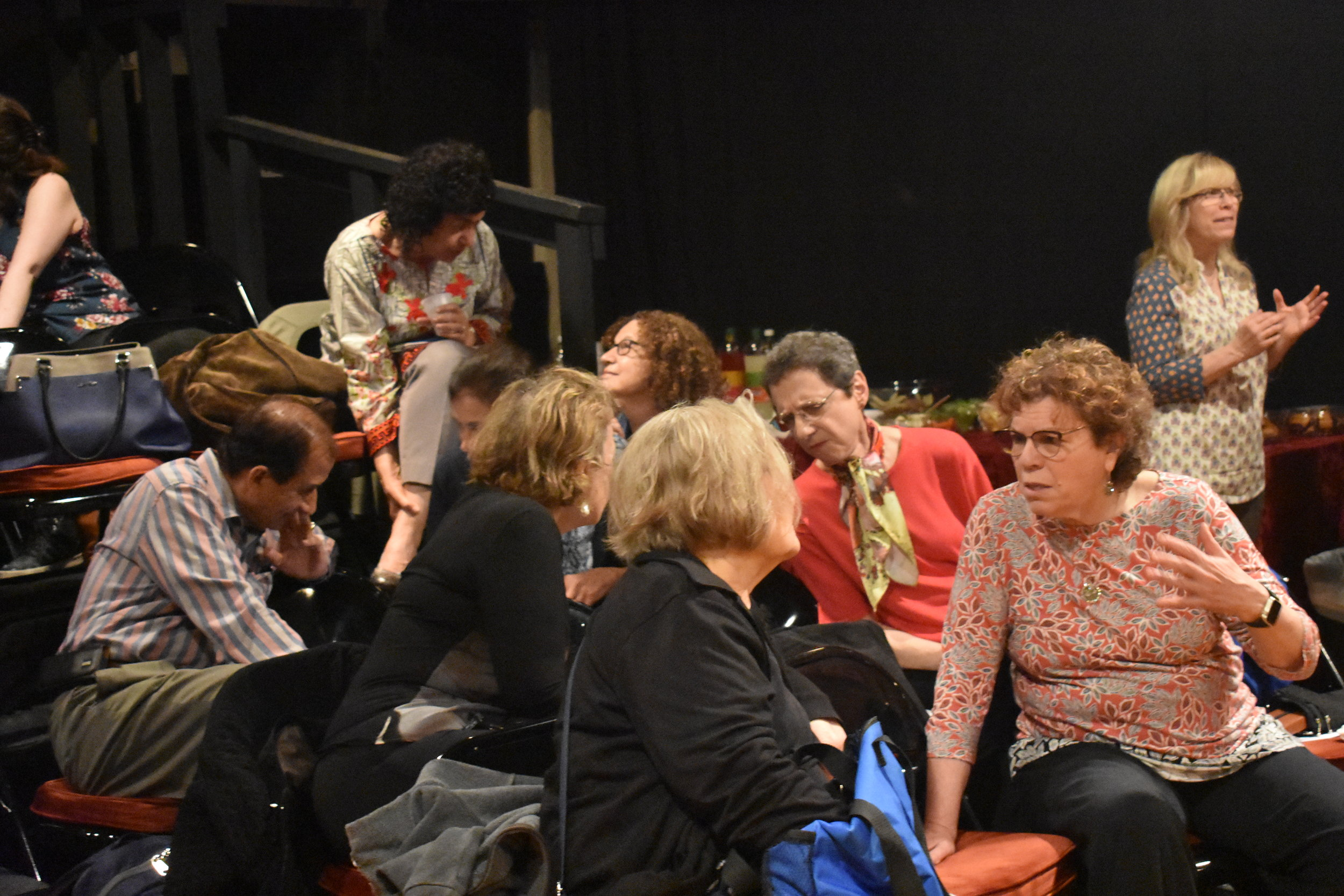 Audience members relating to the day and to each other! Photo by Mollie Block