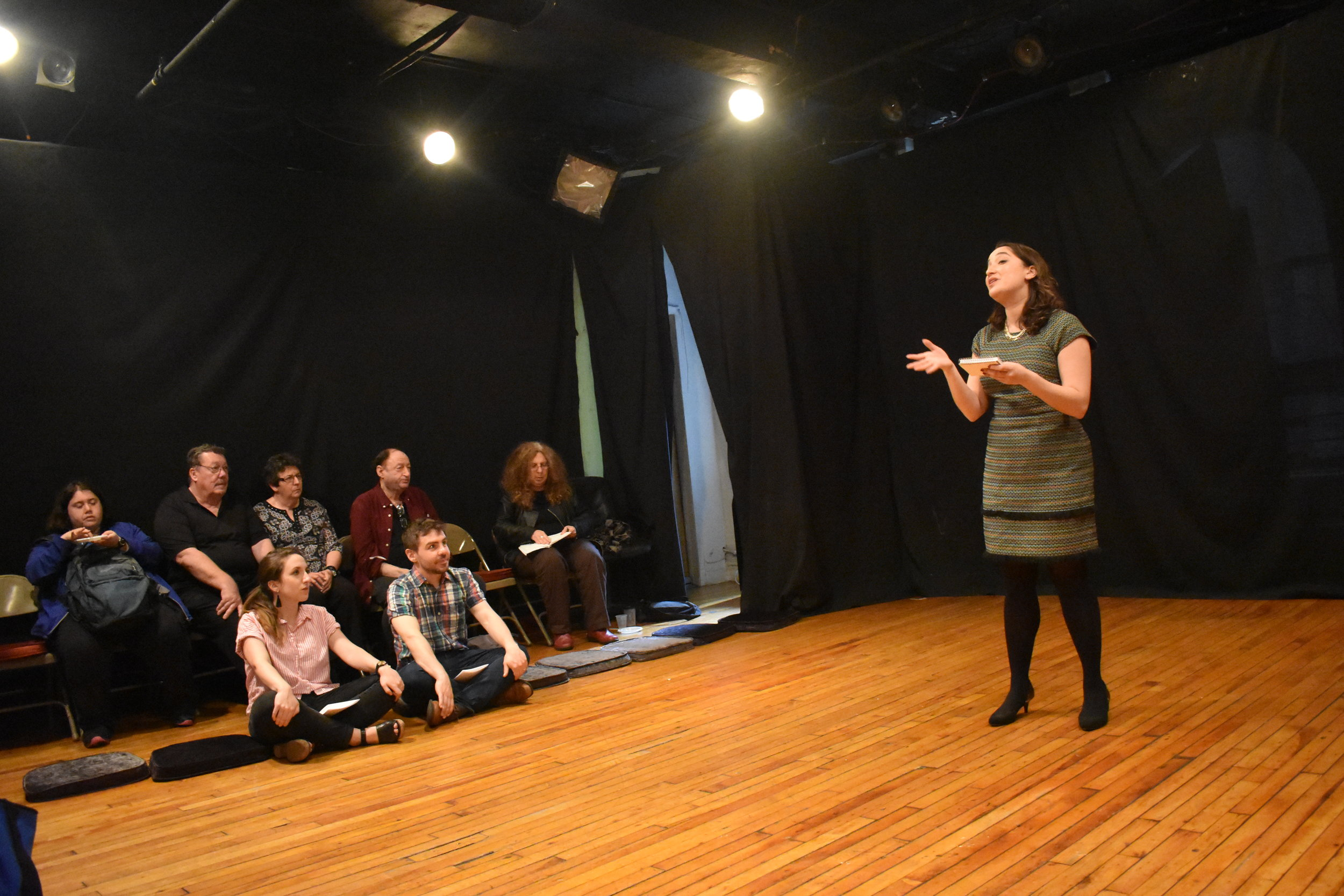 Monna Sabouri of the Muslim Writers Collective led the medieval Jewish-Muslim poetry workshop. Photo by Mollie Block