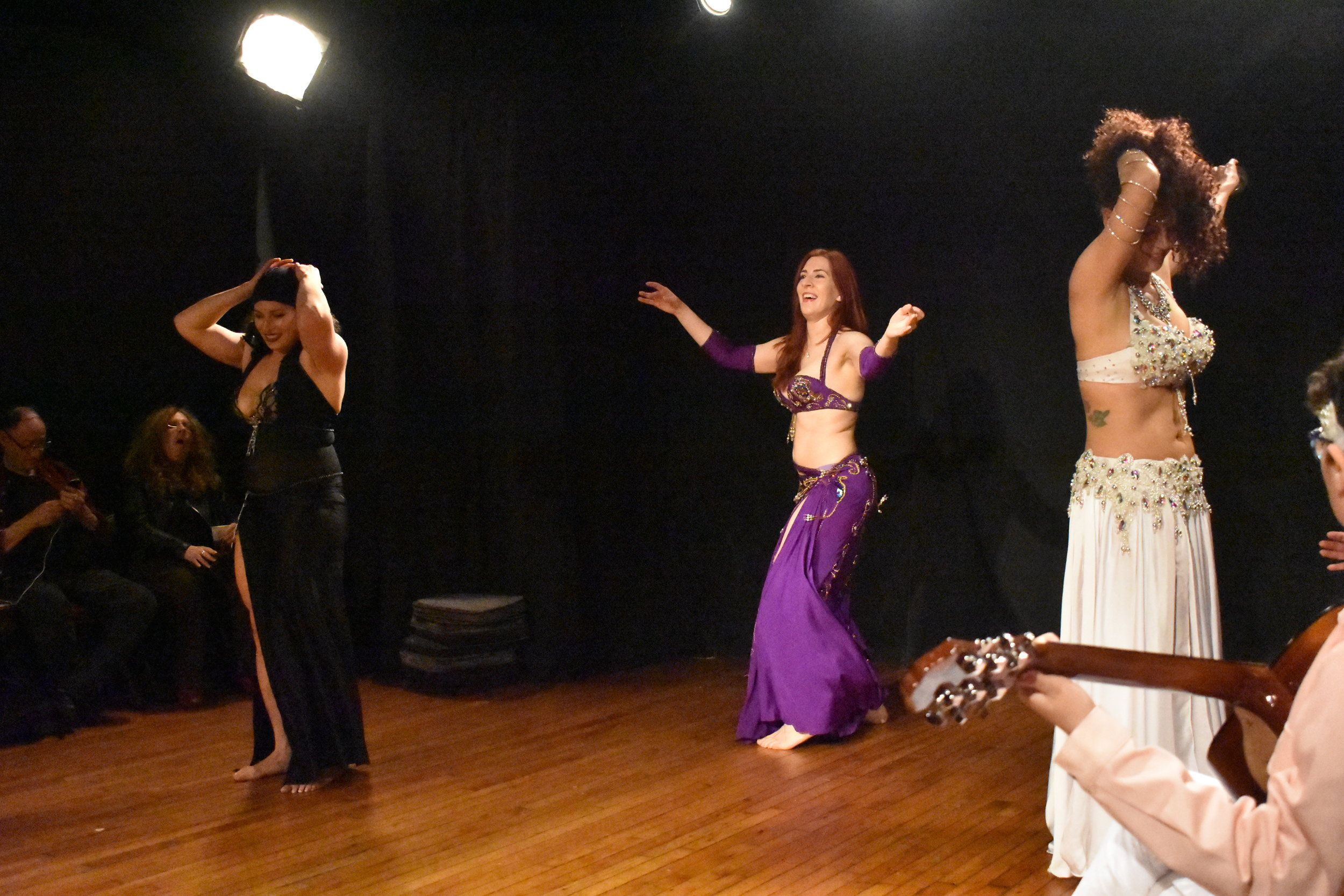 Shayna Maydela perform belly dance at the intersection of spirituality and sensuality. Photo by Mollie Block