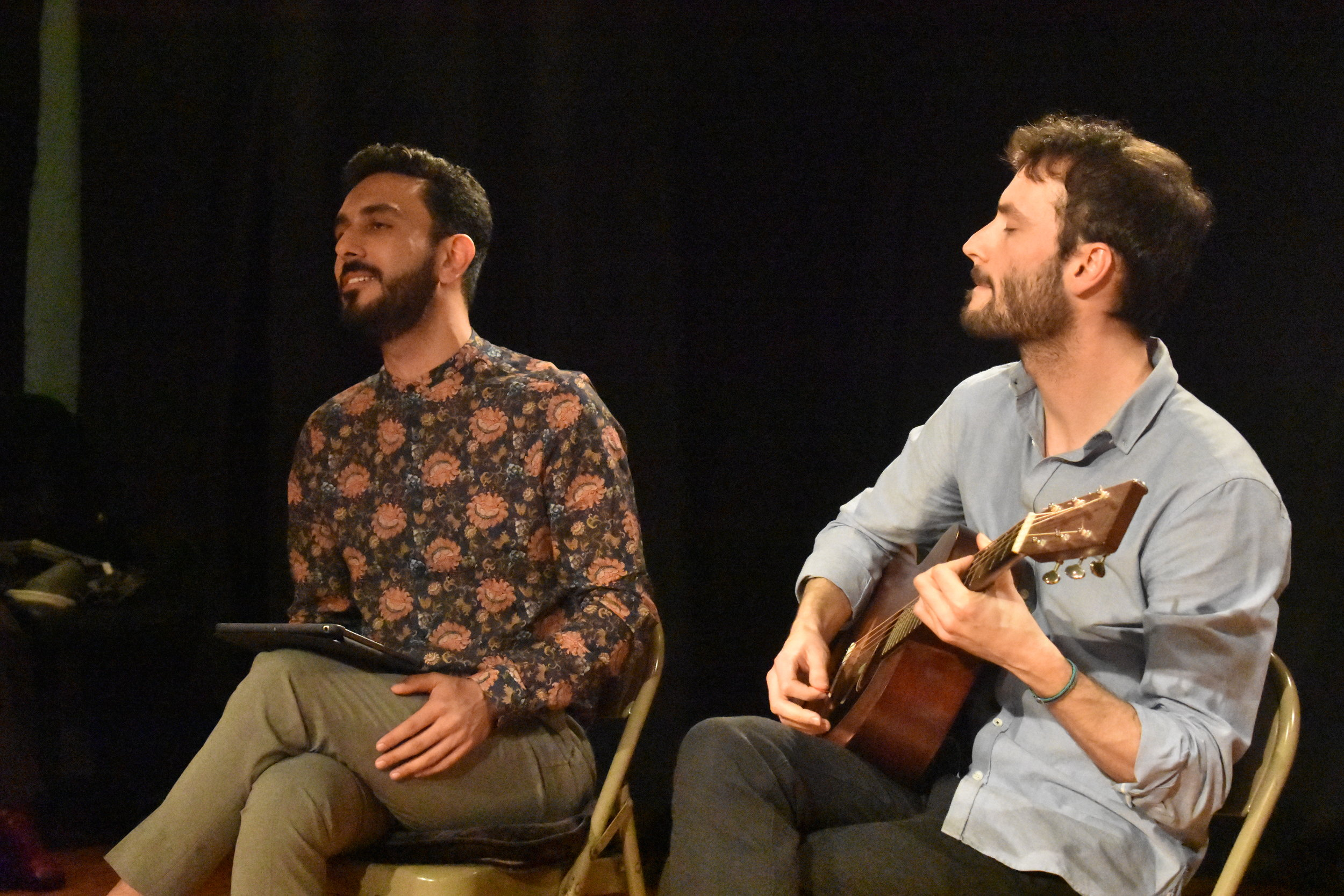 Gilad Barakan and Parham Haghighi sing Persian and Israeli songs. Photo by Mollie Block