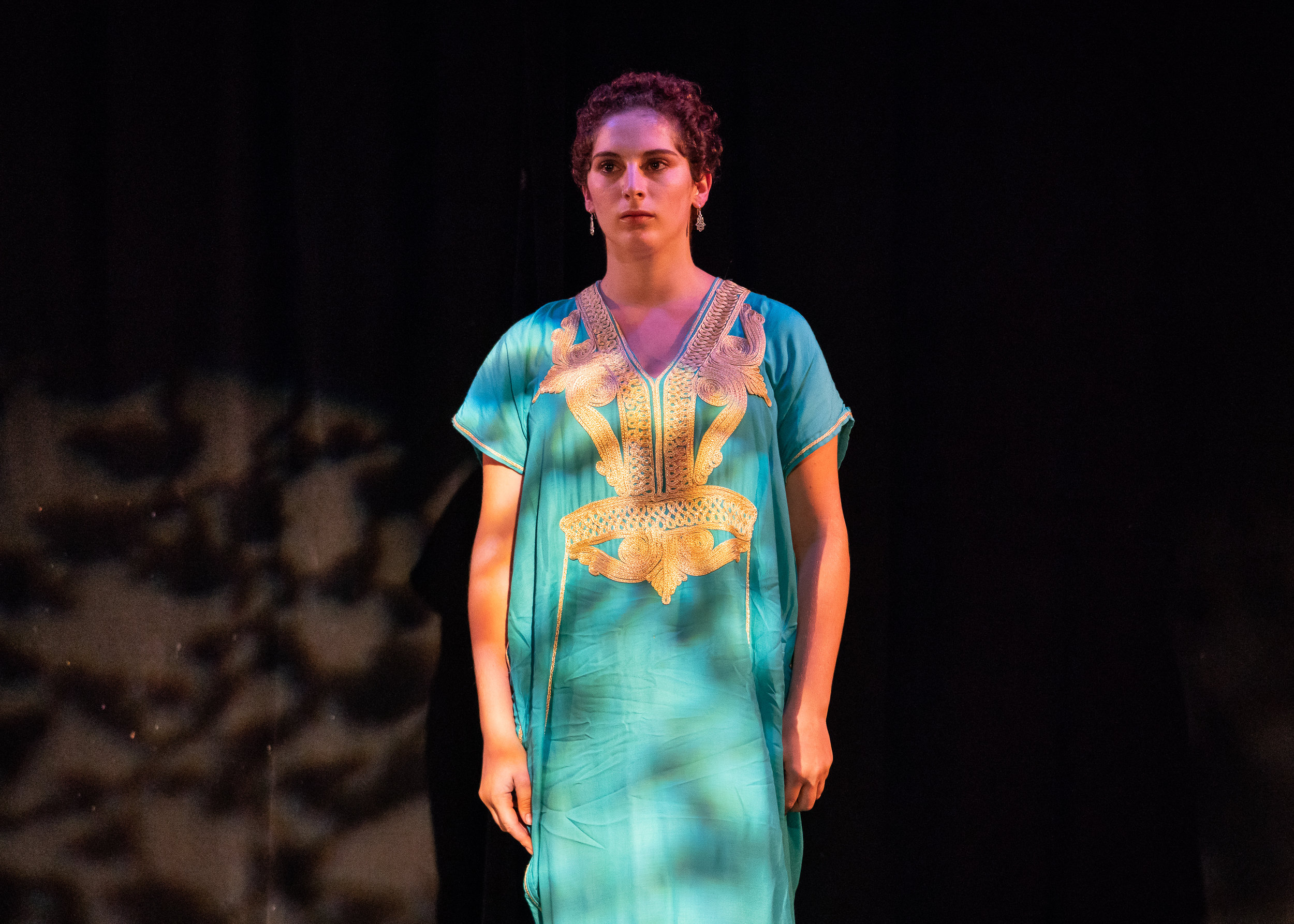 Hannah Goldman presented a performance piece about her identify as an Arab Jew.