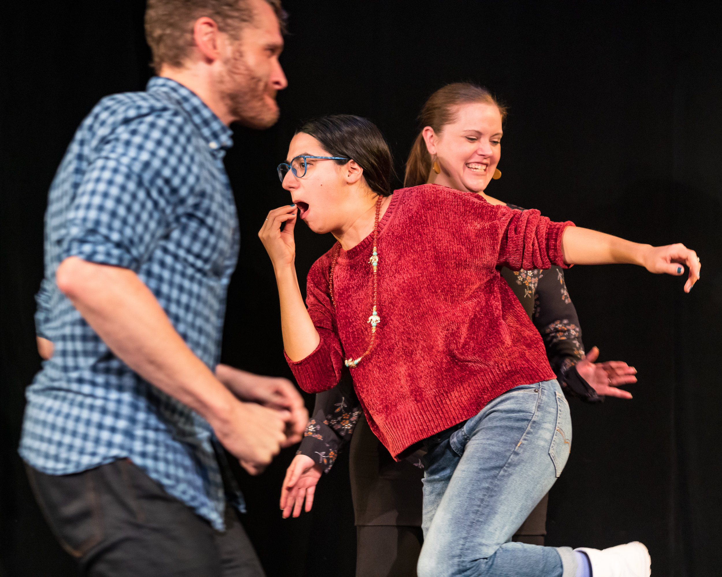 The ImprActivists presented an improv comedy set around a shared Sufi-Jewish mystical tale (told about a Middle Eastern Sufi master in the 9th-13th century and retold almost verbatim about a European Hasidic master in the 17th-19th centuries).