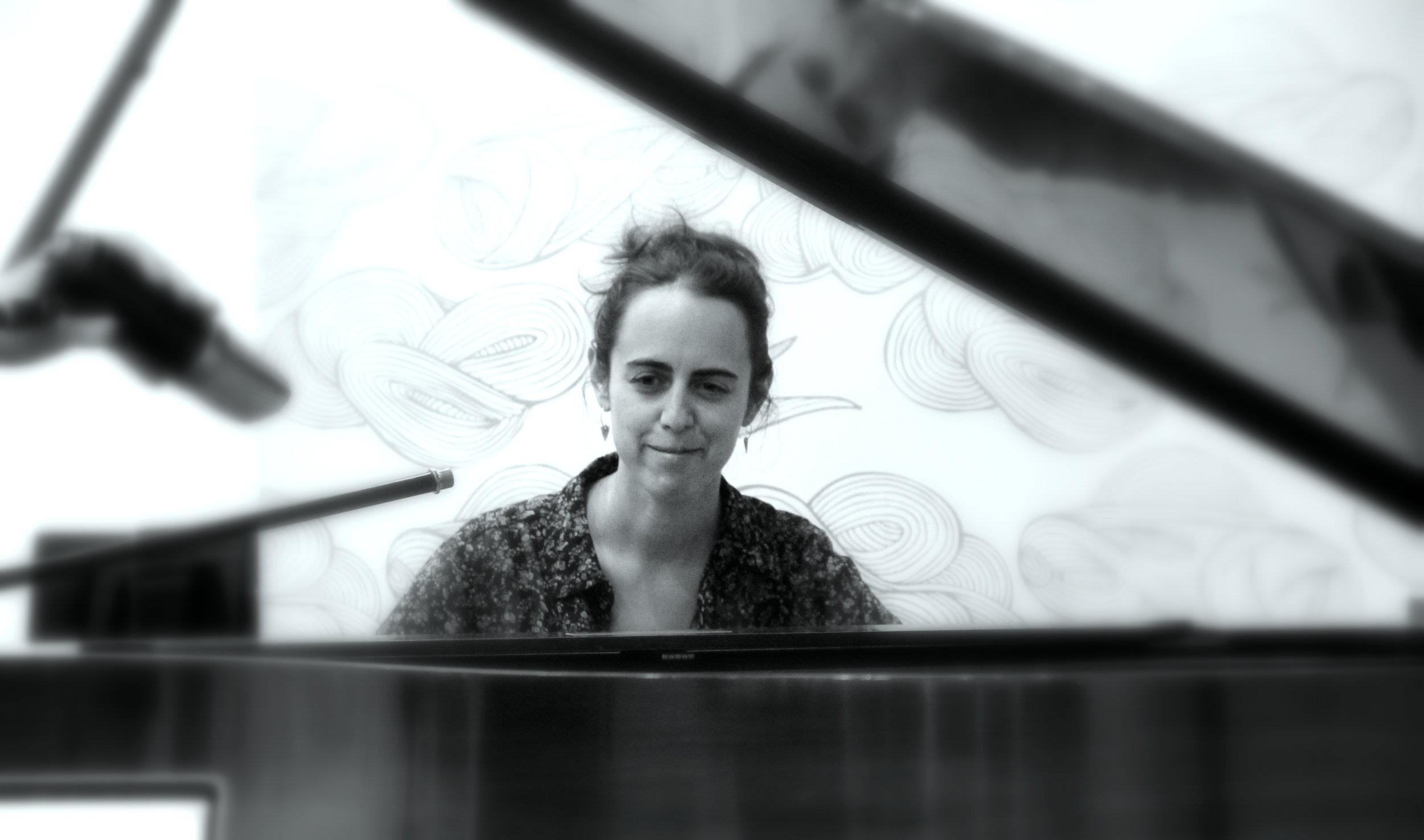 Jazz Pianist Mara Rosenbloom.  Photo by Jagruti Deshmukh.