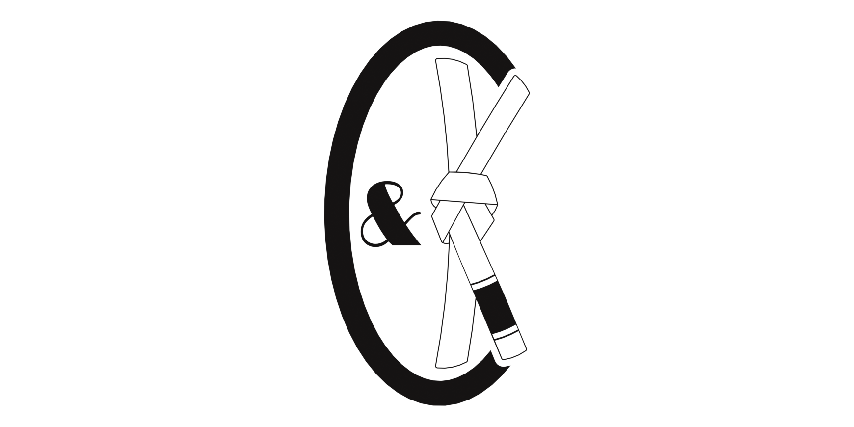Coffee&Kimuras - Brand logo created for Irish martial arts apparel brand, Coffee&Kimuras.
