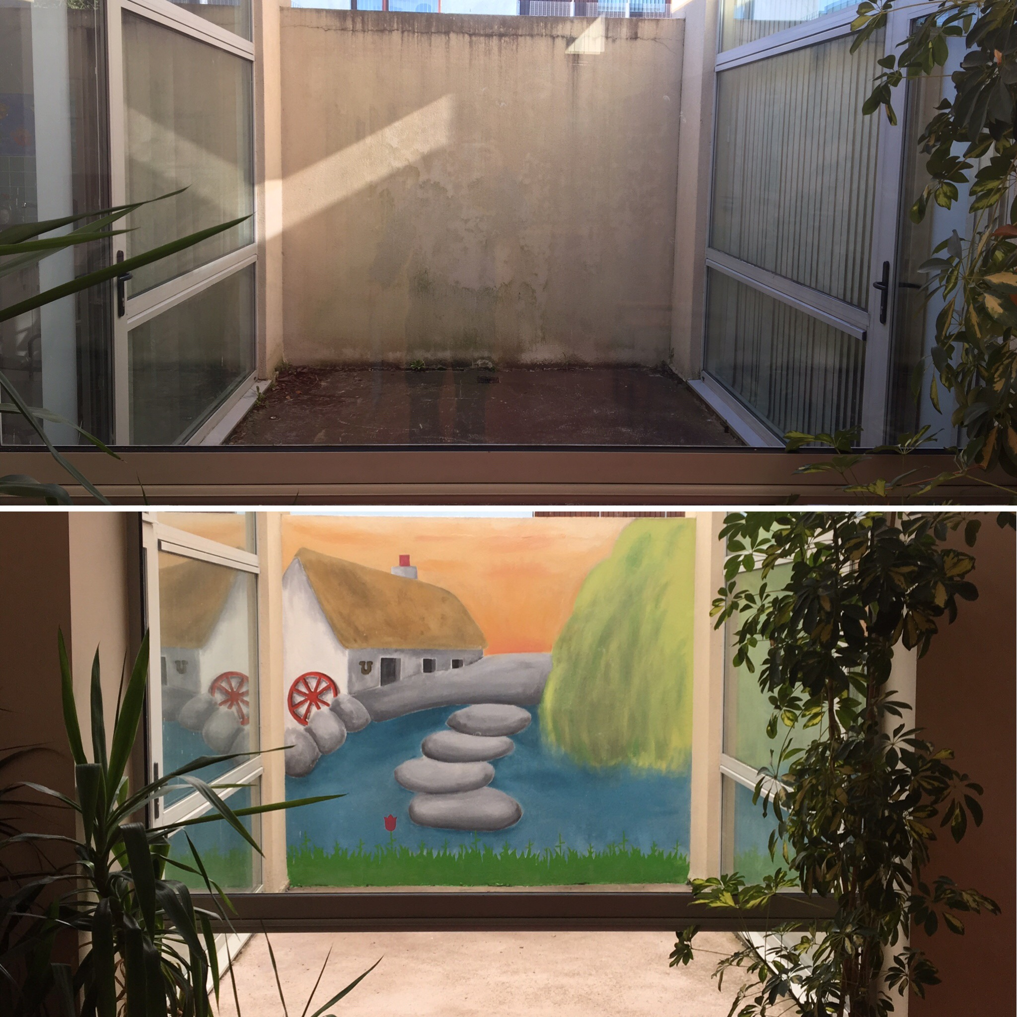 C.R.A.N.O.G. HSE Resource Centre, Castleblayney - Mural completed alongside Acquired Brain Injury patients to brighten up HSE Resource Centre in Castleblayney, Co. Monaghan, in assocation with ABI Ireland.