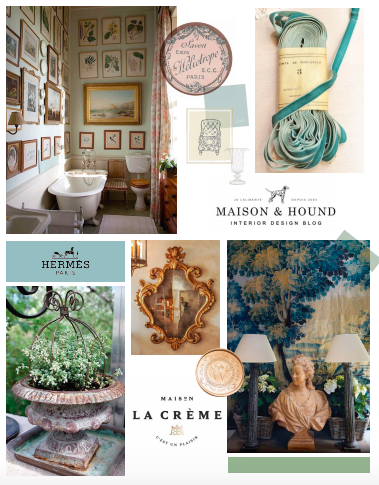 A mood board concept for home & garden brand, Marchioness.