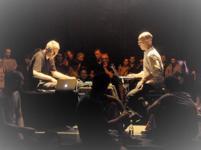Thomas Lehn and Marcus Schmickler. Image Courtesy of Lampo.