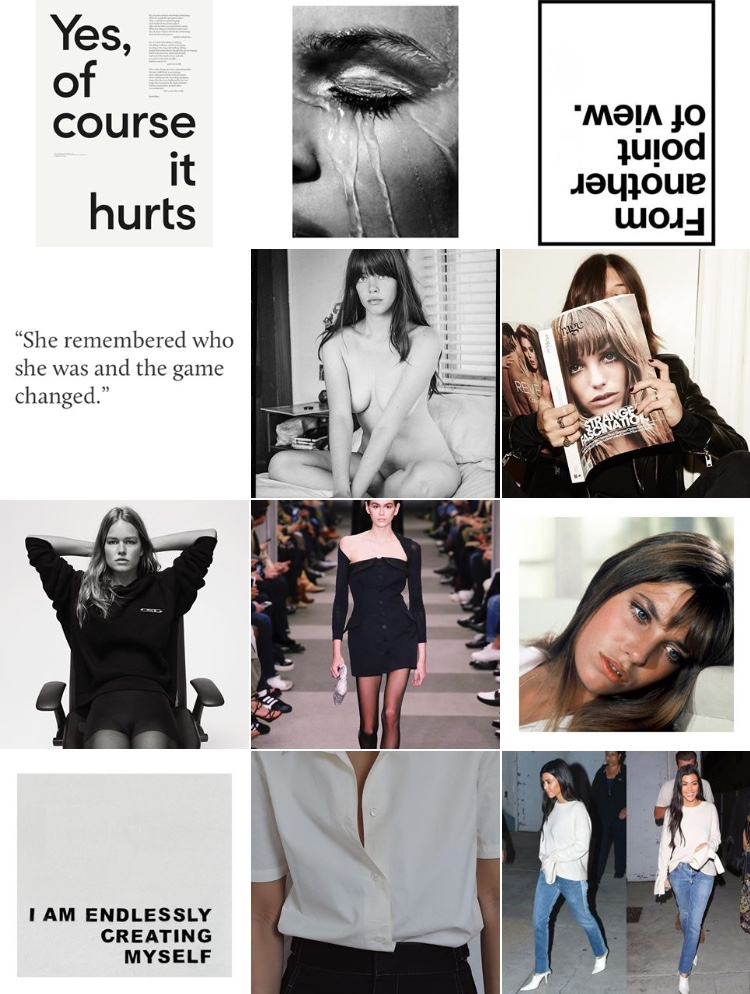 CC RUTH essence/mood board.