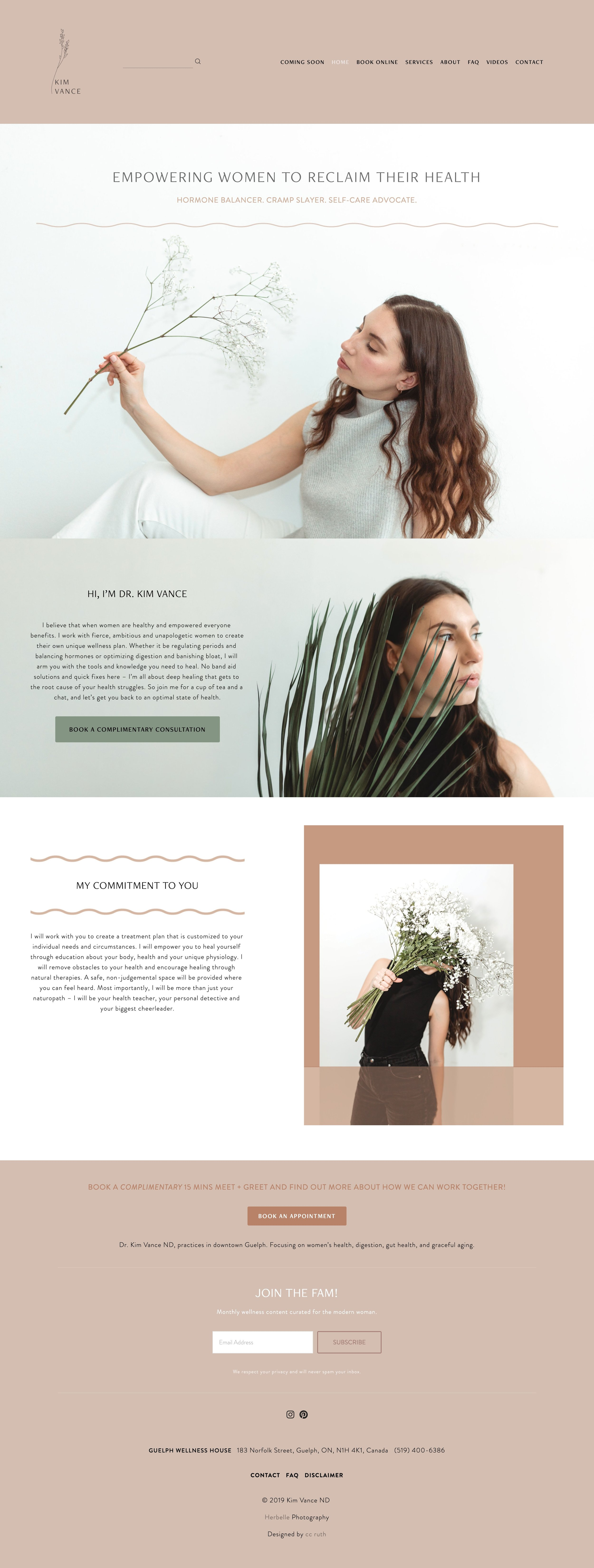 Website design & Visual Identity for  Dr. Kim Vance
