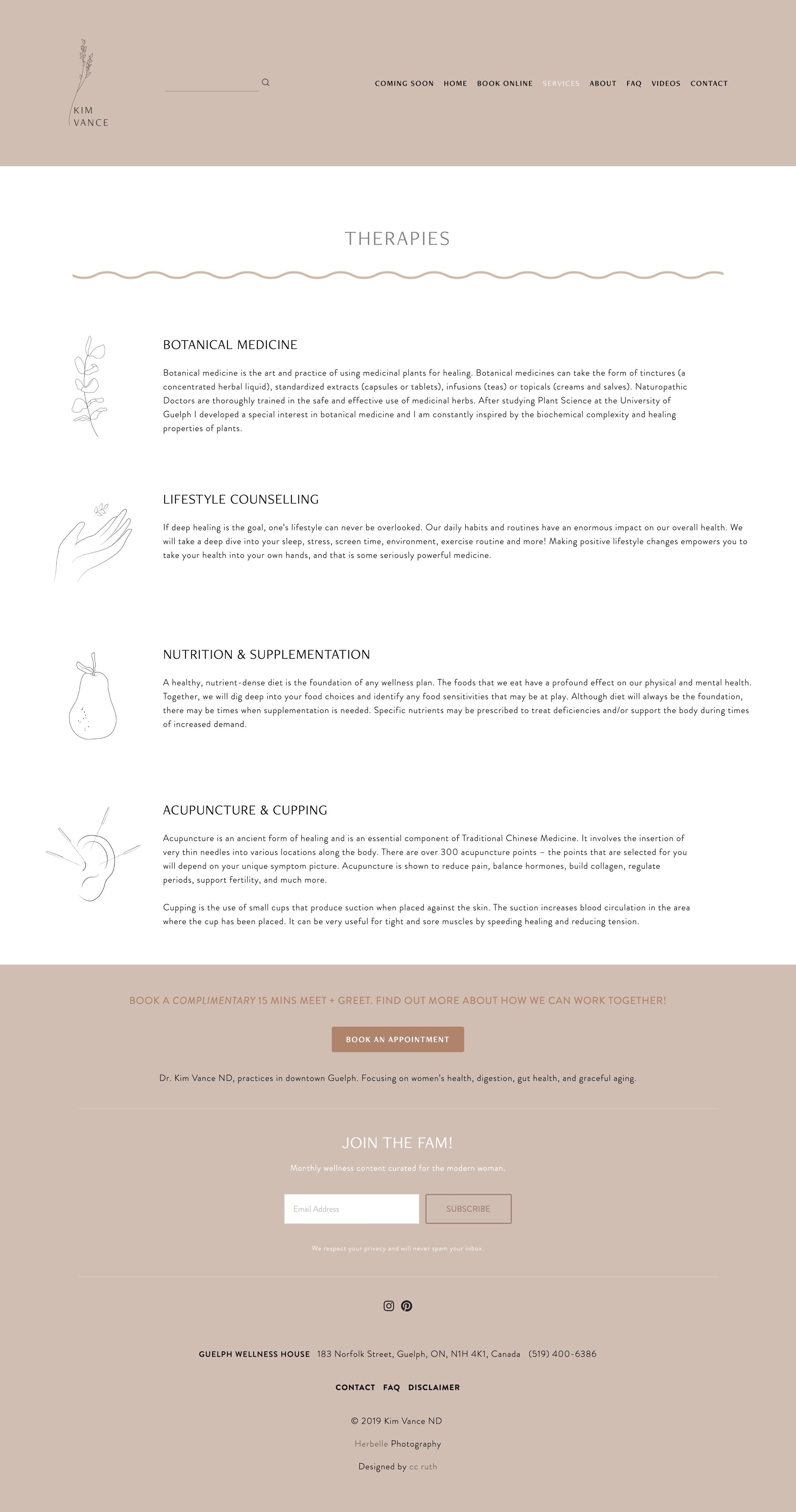Custom illustrations for  Dr. kim vance nd