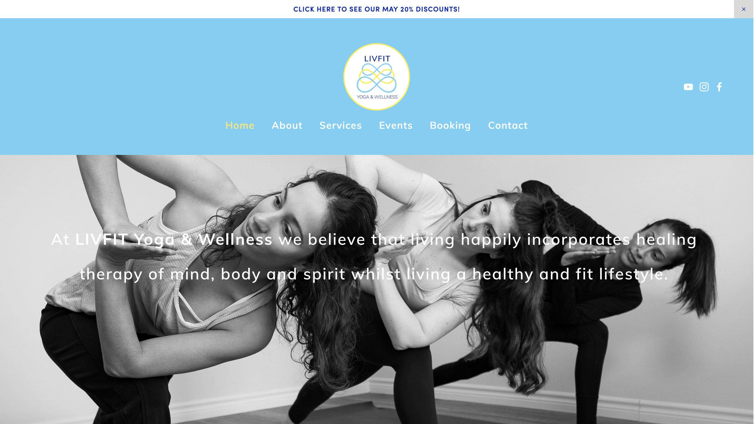 Web design for  Liv Fit Yoga & wellness