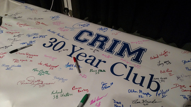 Crim 30 Year Club Member