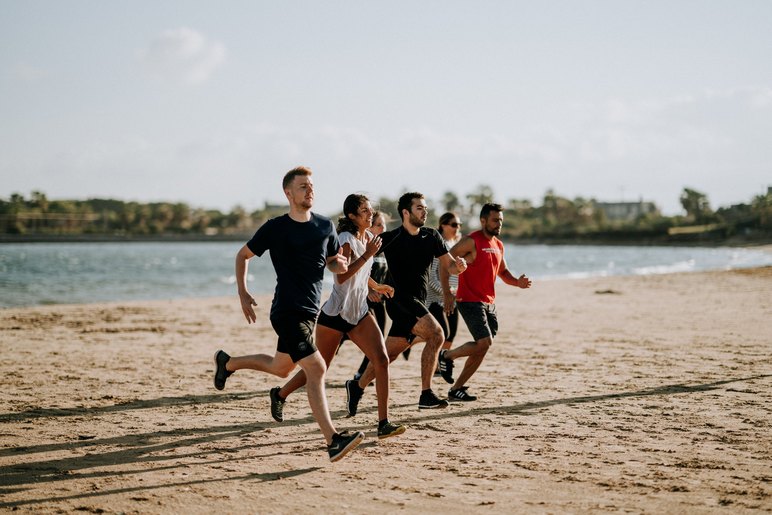 Running with groups or friends will improve your running.