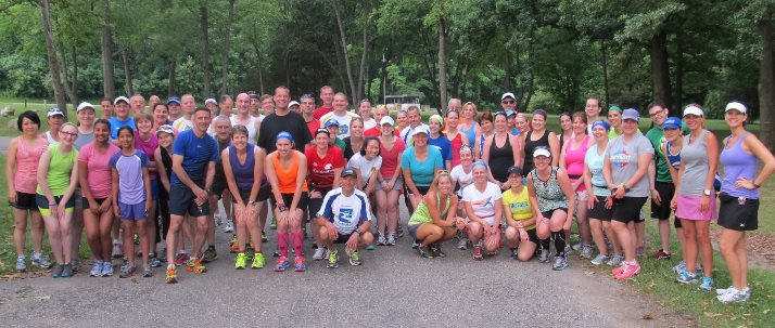 The 501 Running Club, the group is ready to run on a great Saturday morning.