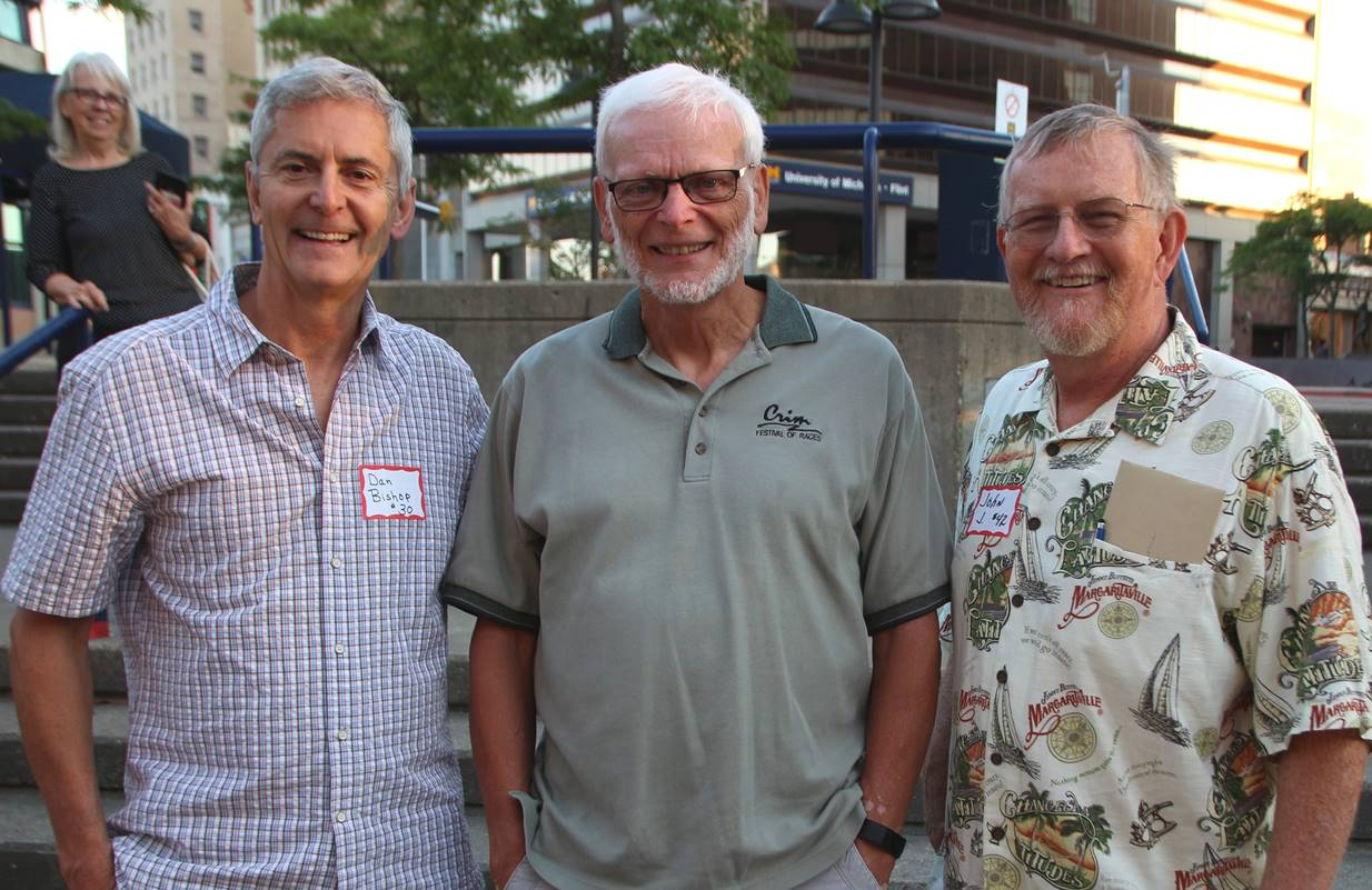New 30 Year Club leader Dan Bishop, Riley McLincha, and outgoing leader John Jerome.
