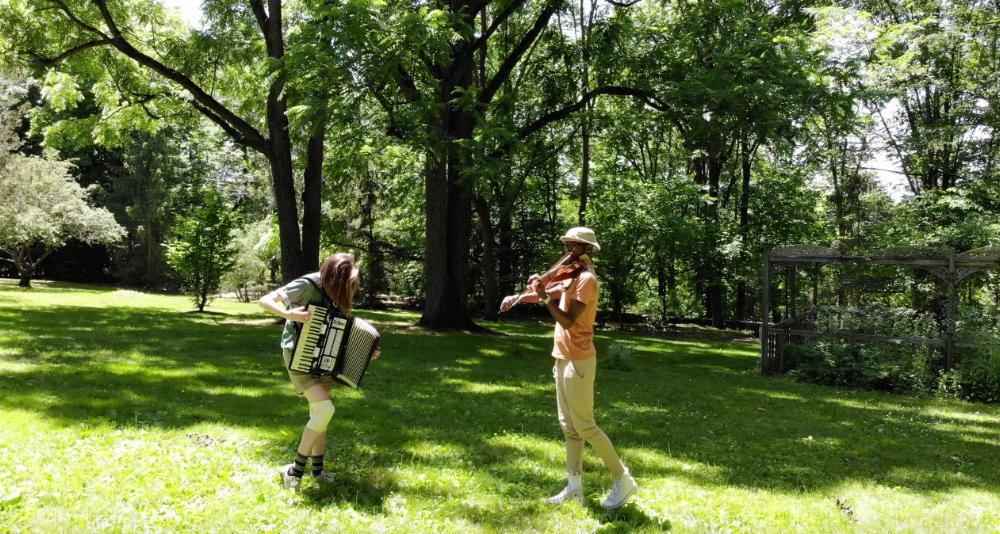 Screenshot from video by Eric Fleischauer;  drone_dance01_trim.mp4