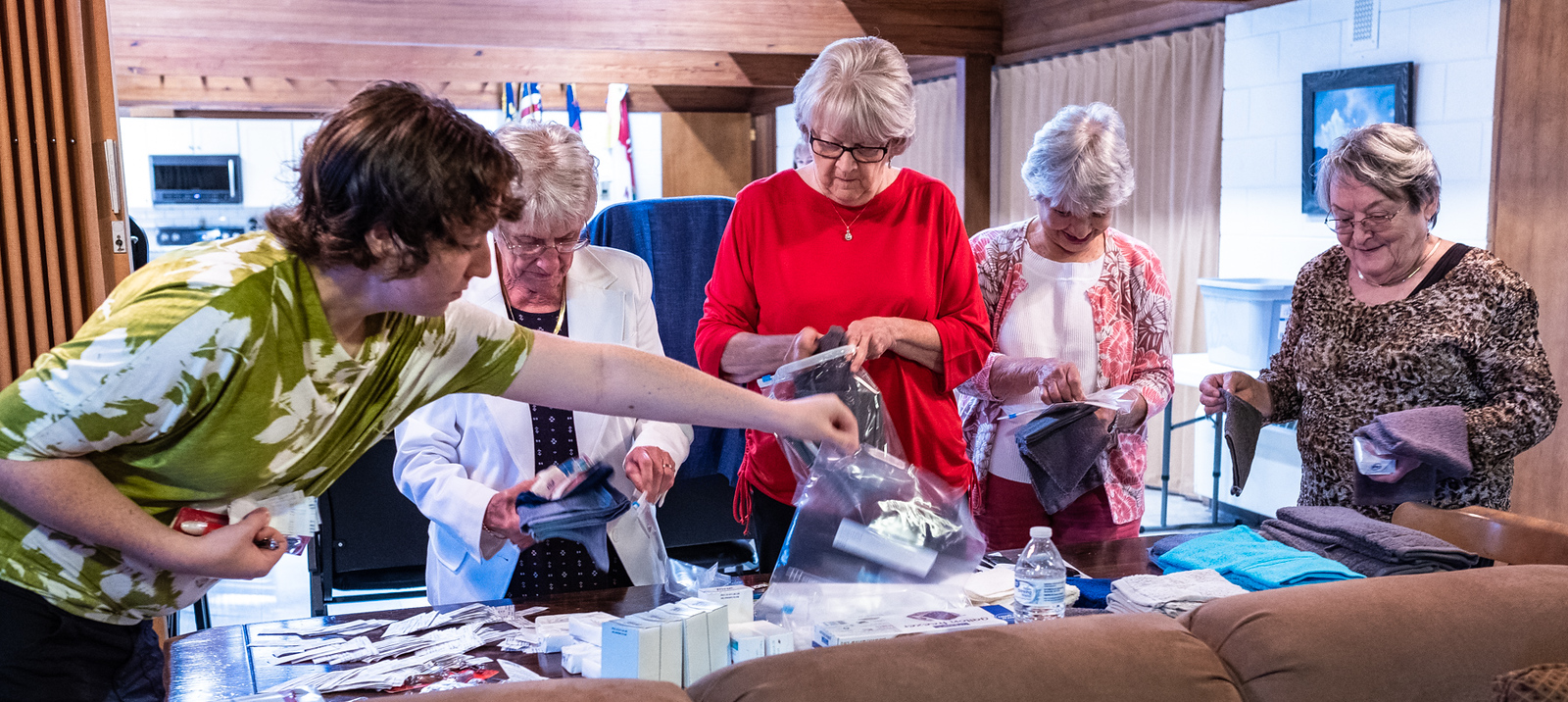 Making Hygiene Kits - Twice a year, Mars Hill UMC Sunday School classes are assembling hygiene kits for the United Methodist Committee on Relief  (UMCOR)UMCOR has an immediate and ongoing need for these in our state and beyond.