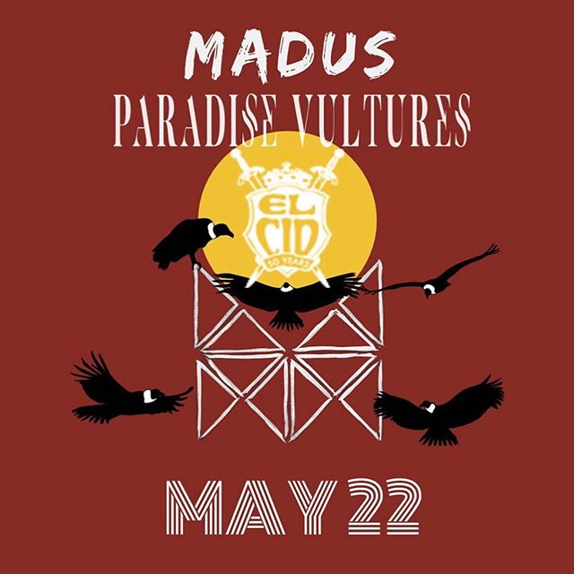 This Wednesday. @elcidsunset with our boys @madusmusic . Be there or be square. Ticket link in bio. See you jive turkeys in two days. ⠀⠀⠀⠀⠀⠀⠀⠀⠀ • ⠀⠀⠀⠀⠀⠀⠀⠀⠀ • ⠀⠀⠀⠀⠀⠀⠀⠀⠀ • ⠀⠀⠀⠀⠀⠀⠀⠀⠀ • ⠀⠀⠀⠀⠀⠀⠀⠀⠀ #rock #live #newmusic #alternative #garagerock #supportnewmusic #independentmusic #livemusic #newartist #newband #grunge