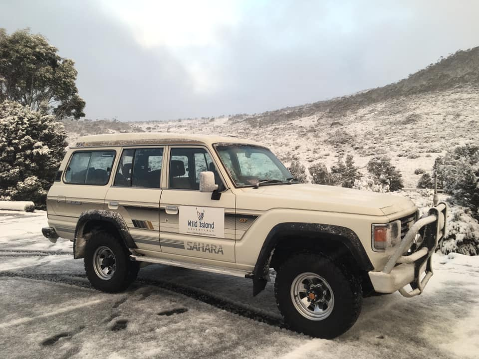 George - The newest member to our team - the luxuriously comfortable 'King of the Road!' George, the 'silver fox' vintage 60 series Toyota Landcruiser Sahara carries a comfortable 7 in style!
