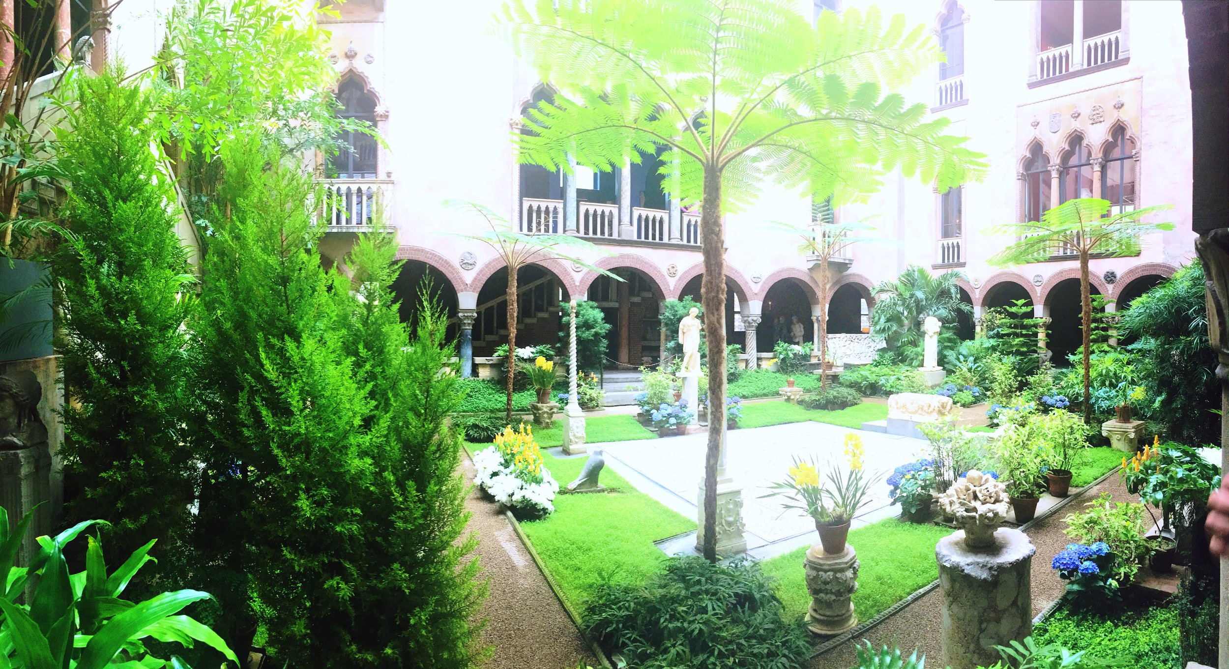 The courtyard at the Isabella Stewart Gardner Museum
