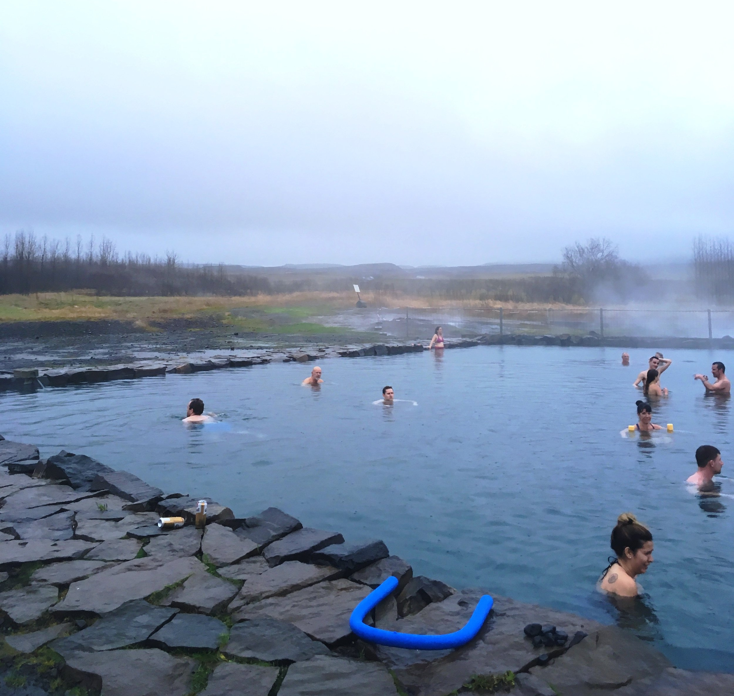 The Secret Lagoon at Fludir is a hot spring in Iceland.