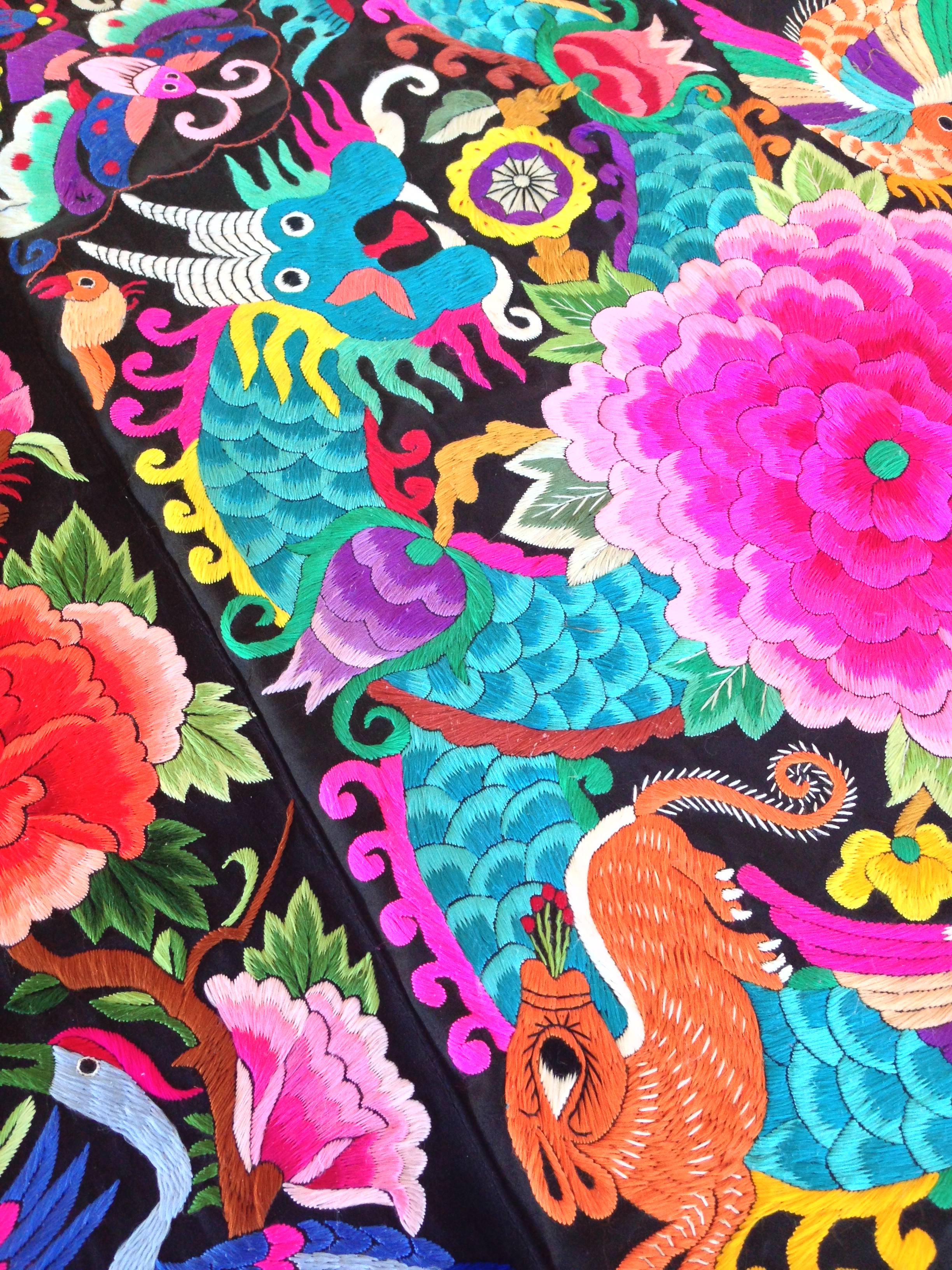 The aforementioned embroidery from the Chinese edition of the Folklife Festival.